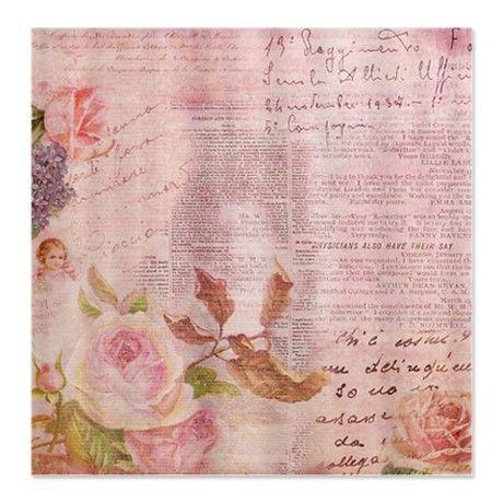 Pink Vintage Rose Shower Curtain