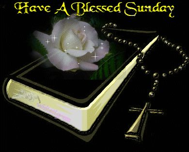 Have a Blessed Sunday bible cross weekend days of the week sunday graphic sunday greeting sunday blessing