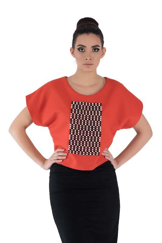 Orange Wool T-Shirt