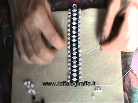 Tutorial bracciale con perline, 2 modelli un solo schema! Sweet Lavender bracelet tutorial - YouTube