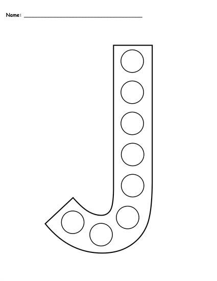 FREE Letter J Do-A-Dot Printables - Includes Uppercase and Lowercase Letters in 2 Versions! Letter J worksheets like these are perfect for toddlers, preschool, pre-k, and kindergarten. They're great for letter recognition, fine motor skills, and more! Get the free letter J coloring pages here --> https://www.mpmschoolsupplies.com/ideas/7788/free-letter-j-do-a-dot-printables-uppercase-lowercase/