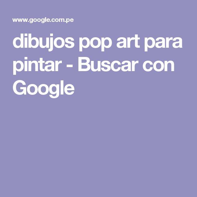 dibujos pop art para pintar - Buscar con Google