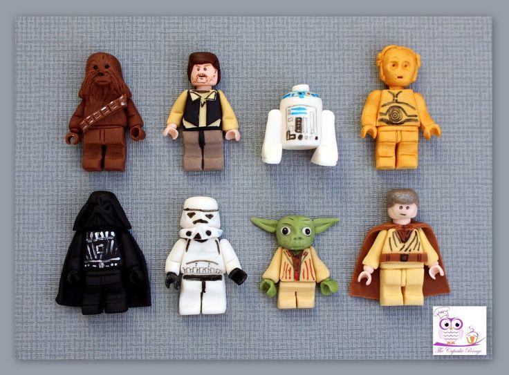 Fondant Star Wars Lego figures