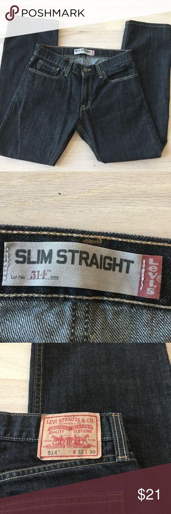LEVIS JEANS 514 slim straight 32x30 EUC LEVI'S Jeans  Size W32 L 30 100% cotton LEVI'S Jeans Slim Straight