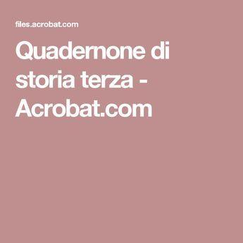 Quadernone di storia terza - Acrobat.com