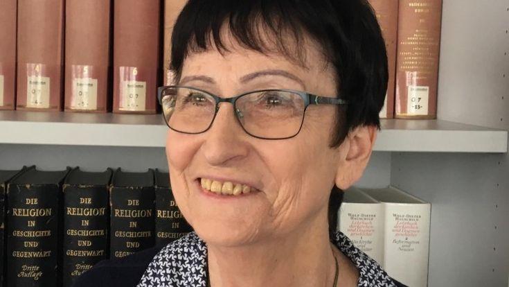 Die Judaistin Edna Brocke zu Besuchim Deutschlandfunk (Deutschlandradio / Andreas Main)