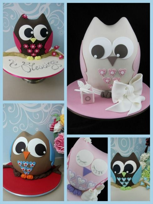 """Workshop """"3D Owl cake"""" with Michelle Rea - Sep 2012."""