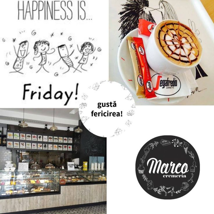 Vineri este ziua în care nu te mai uiți la ceas când ieși la cafea cu prietenii. Ai auzit că laptele folosit de noi este din ferma proprie, Vlășcuța? Să cafelim! #cafea #pitesti #cremeriamarco