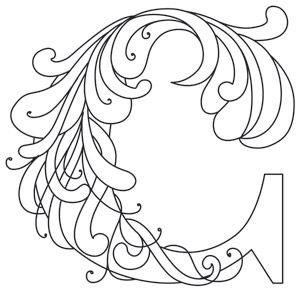 Letter Perfect - Letter C design (UTH7594) from UrbanThreads.com  ~ <3 K8 <3 ~