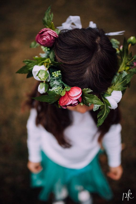 Baby flower crown headband Girl flower crown by FlowersLovers