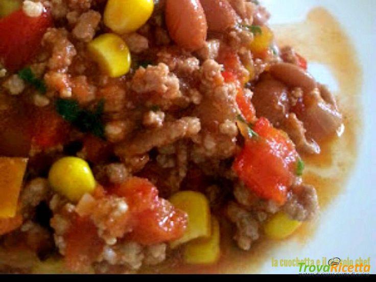Chili Messicano con carne fagioli e riso  #ricette #food #recipes
