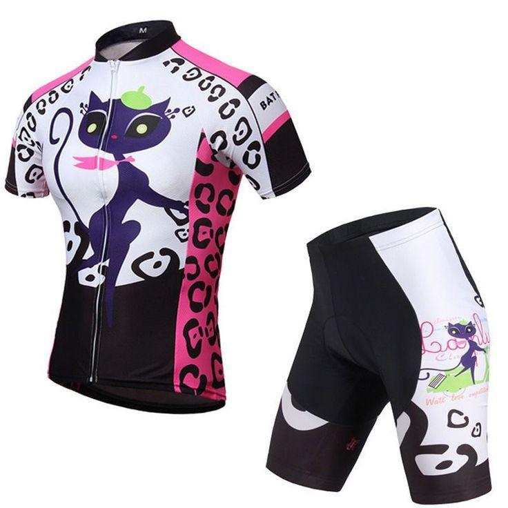 Women/'s Sports Cycling Jerseys /& Shorts Sets MTB Bike Bicycle Clothing Kit Pink