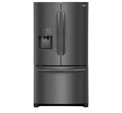 Frigidaire Gallery 21.9 Cu. Ft. Counter-Depth French Door Refrigerator Black Stainless Steel-FGHD2368TD