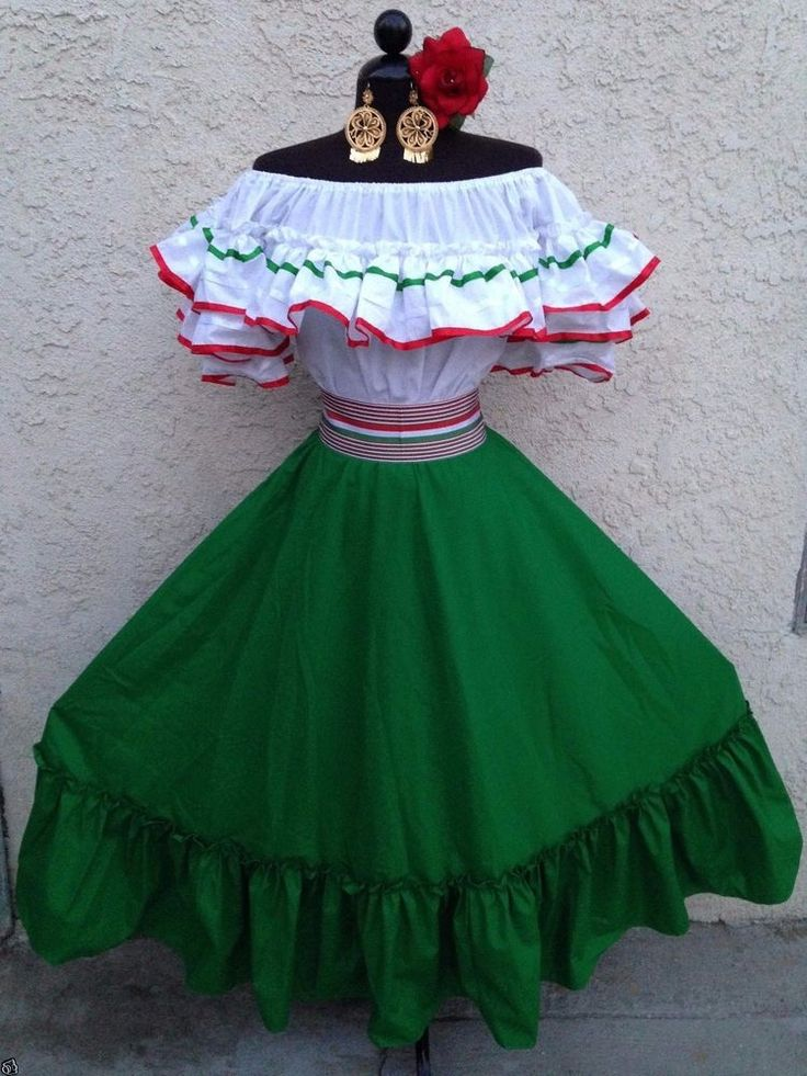 MEXICAN DRESS FIESTA,5 DE MAYO,WEDDING RED OFF SHOULDER 2 PIECE W/SMALL SASH  | Clothing, Shoes & Accessories, Wedding & Formal Occasion, Wedding Dresses | eBay!