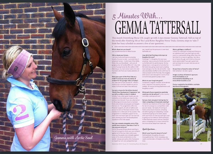 Great coverage of our supported rider Gemma Tattersall Eventing sporting her Timothy Foxx Clothing polo and Tweed earwarmer with the gorgeous Arctic Soul in November's Everything Horse UK Magazine @GTeventing @Horsesandheels