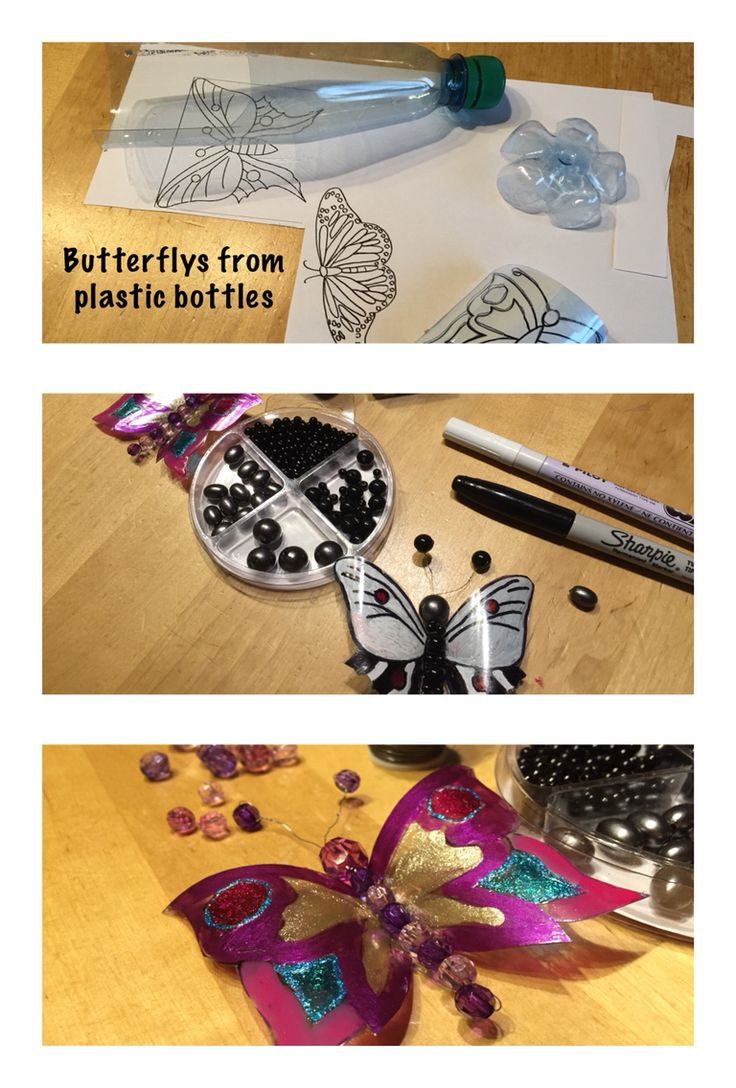 DIY butterflys made from plastic bottles #diy #butterly #plastic #plasticbottle
