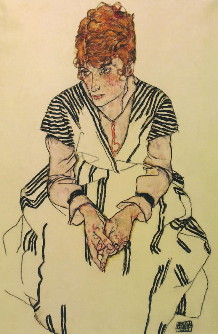 Fab image of a woman by Egon Schiele, just one of over 600 images on our Woman in Art public domain DVD. Click on the picture for more details.