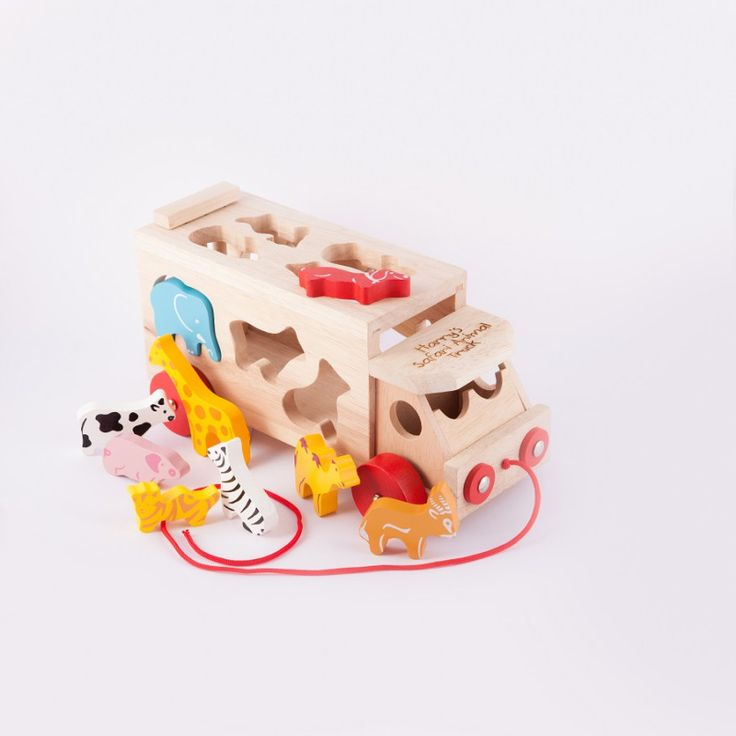 Personalised Safari Animal Shape Sorter Lorry | hardtofind.
