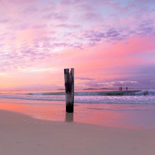 Pink dawn Esperance Western Australia