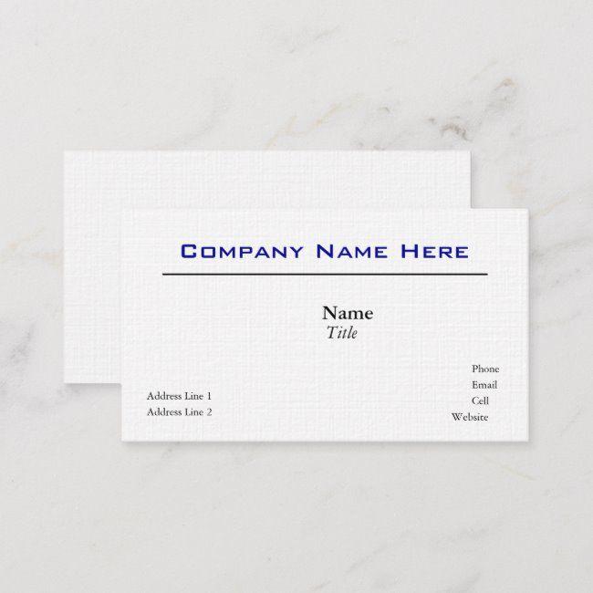 White Linen Business Cards Zazzle Com Linen Business Cards White Linen Linen