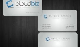 Σχεδιασμός λογοτύπου και ολοκληρωμένης εταιρικής ταυτότητας για την εταιρεία CloudBiz, μια νέα εταιρεία με λύσεις τεχνολογίας και ένα σύγχρονο πρόσωπο. Το σύνολο της ταυτότητας περιλαμβάνει επαγγελματικές κάρτες, τρίπτυχο folder, επιστολόχαρτα και φακέλλους, σημειωματάριο, compliments card, ταμπέλα και εταιρικό αυτοκίνητο.    Στο πλαίσιο της δημιουργίας συνολικής εταιρικής εικόνας για την CloudBiz, σχεδιάσαμε και αναπτύξαμε ένα εκτενές εταιρικό web site.