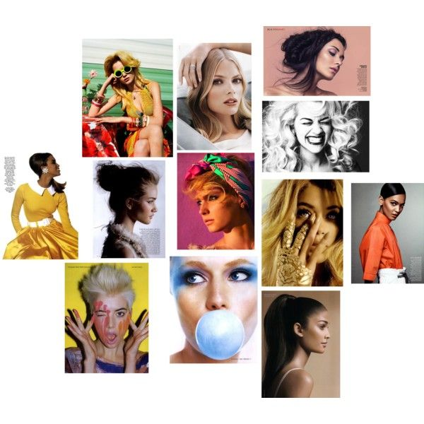 Model Collage, created by sarah-siegel on Polyvore