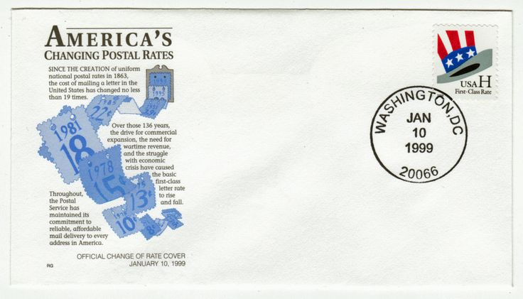 USA Covers # 3260 - Postal Rates - Uncle Sam's Hat - Washington, DC