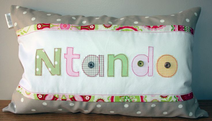 Personalized Name Scatter - for baby Ntando - ideal to brighten any child's room! Great gift idea. Order from Tula-tu Baby Linen - also find us on facebook
