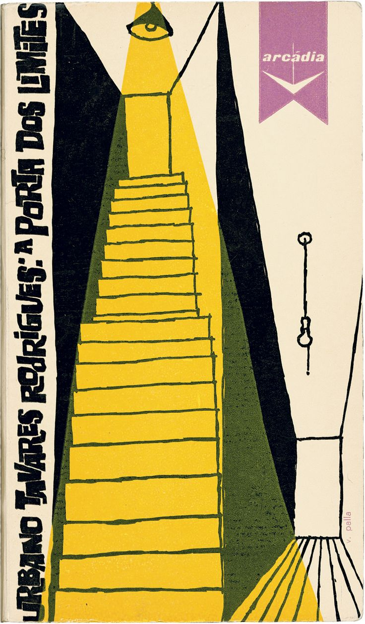 """Speaking of the handmade look and beautifully executed 1960 Victor Palla's cover for Urbano Tavares Rodrigues' """"A porta dos limites.""""1960"""