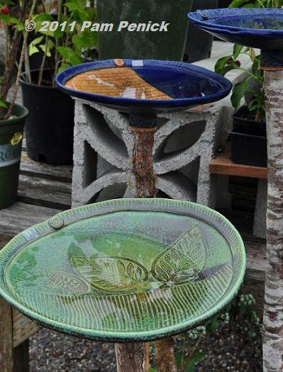 handmade birdbath