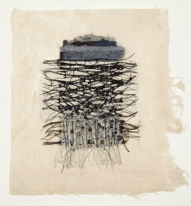 Jennifer Davies, thread and handmade paper