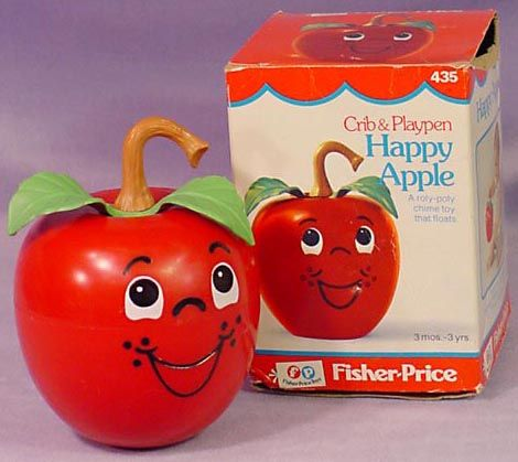 I can still here the little jingle in my head when I see this pic of the happy apple toy