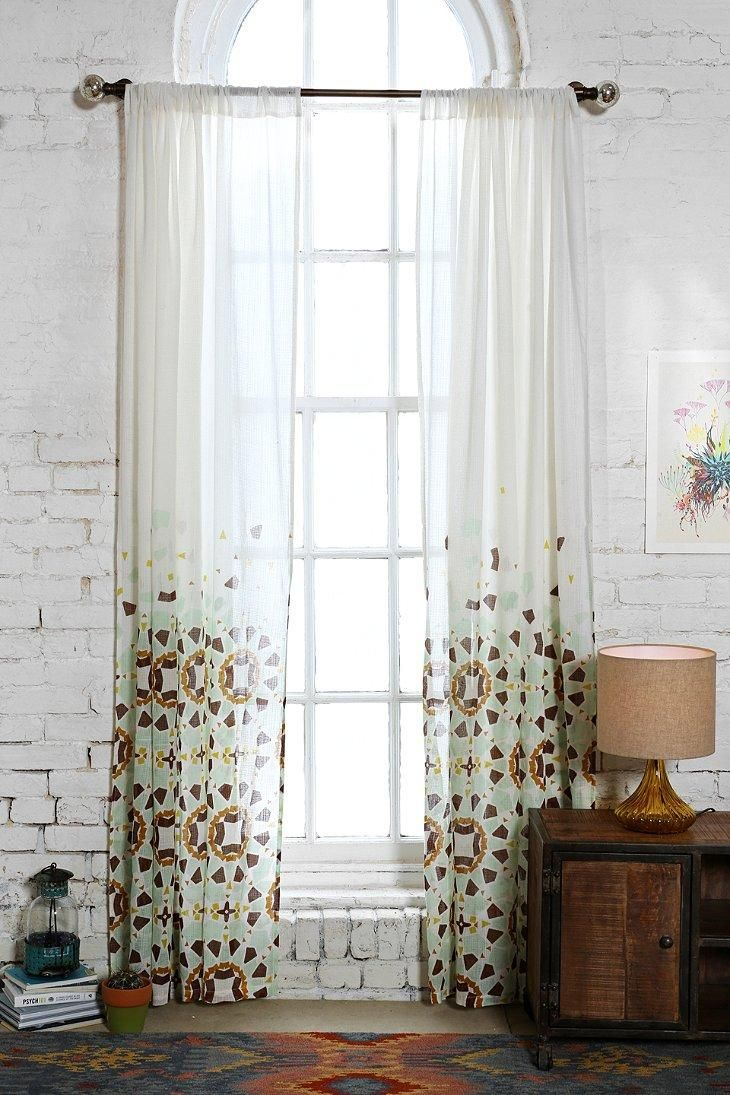 Magical Thinking Moroccan Tile Curtain - give me the window & the wall!