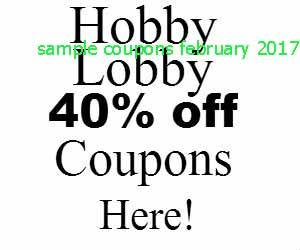 hobby lobby coupons february