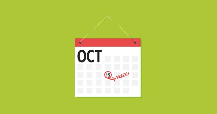 Individual Tax Return Extensions are due October 15