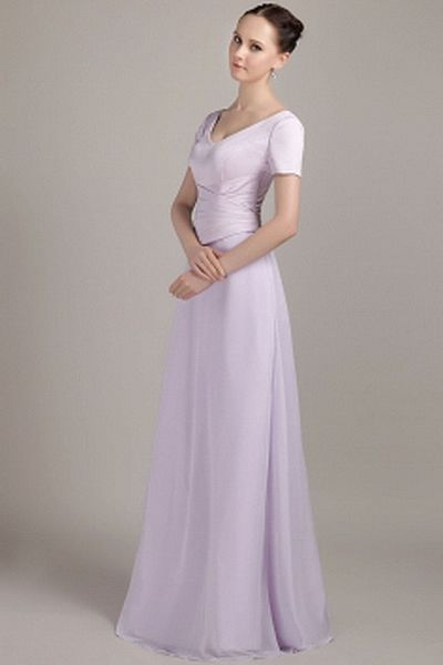 V-Neck Elegant Purple Evening Gown - Order Link: http://www.theweddingdresses.com/v-neck-elegant-purple-evening-gown-twdn1737.html - Embellishments: Ruched; Length: Floor Length; Fabric: Chiffon; Waist: Natural - Price: 148.93USD