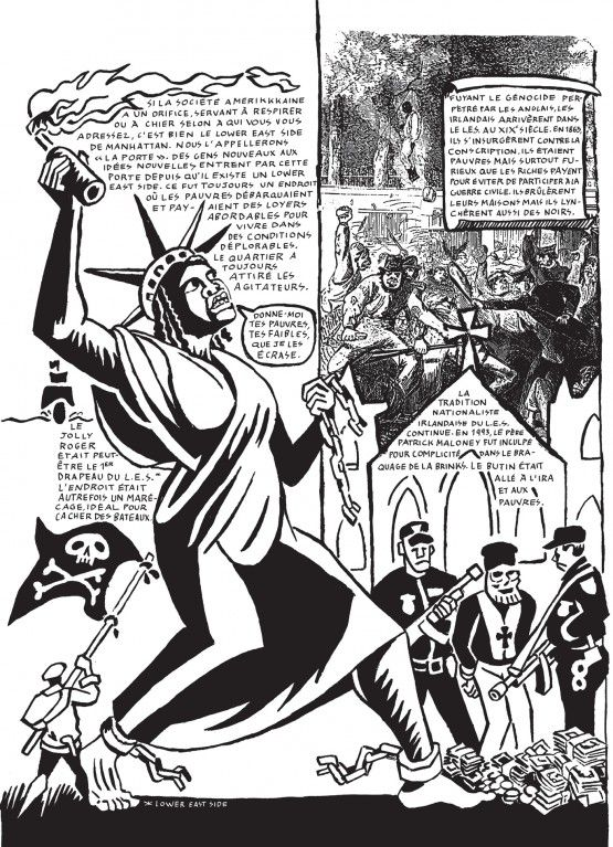 C'est l'idée du dessin comme vecteur de discours politique qui poussa, dès 1979, Seth Tobocman, avec son ami Peter Krupper, à fonder le magazine World War 3 Illustrated, l'une des premières revues de bande dessinée de journalisme et d'enquêtes sociales en bandes dessinées. Deux des onze chapitres de « Quartier en guerre » y furent publiés.