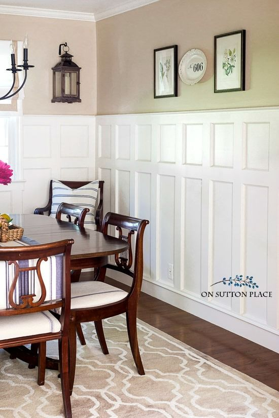25 best ideas about Wainscoting dining rooms