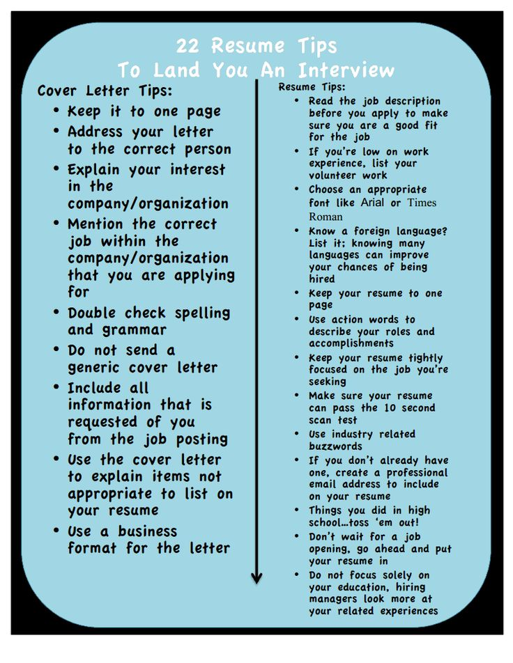 22 Resume Tips To Land You An Interview... Please double check who you've addressed your cover letter to!! It gets so monotonous when applying for jobs, it's easy to make stupid mistakes!