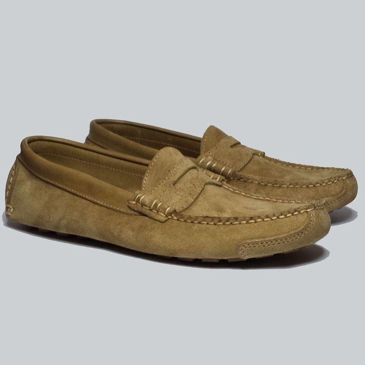Brooks Brothers Suede Driving Mocs Brown Mocassins Men Size 8 D  #BrooksBrothers #DrivingMoccasins