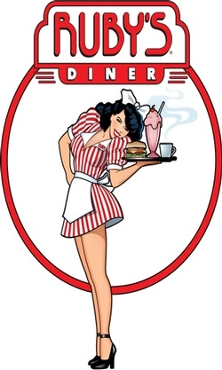 Ruby's Diner- chocolate cokes, burger and skinny fries-YUM!
