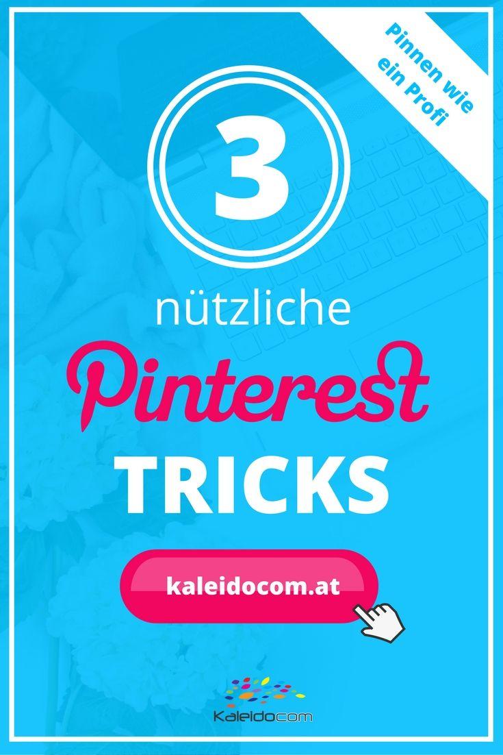 3 nützliche Pinterest Tricks, die nicht jeder kennt! #pinteresttipp #pinterestmarketing