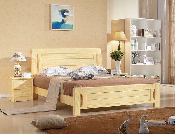 pine wood bed modern wood furniture ideas #bed #frame #bedroom