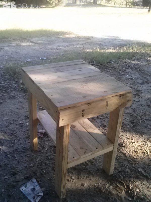 Easy Pallet Bed Side Table Pallet Desks & Pallet Tables