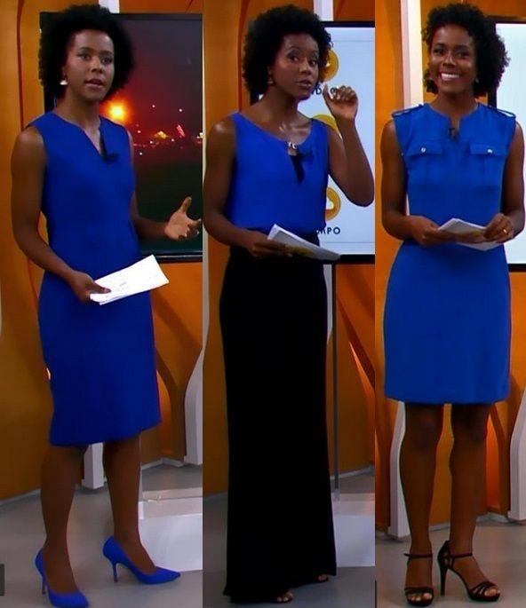 Maju dita moda na TV com looks de cores vivas e recortes estratégicos. Fotos!