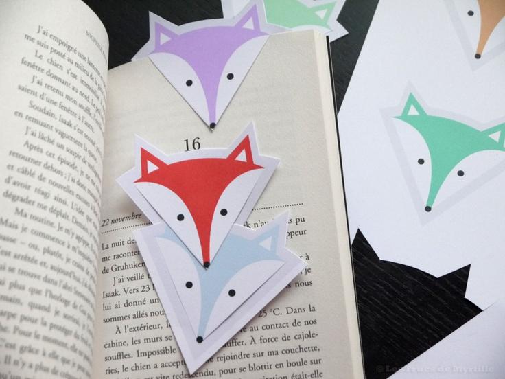 Les Trucs de Myrtille: Marque-pages à imprimer (DIY) : renard, hibou ou monstre ?