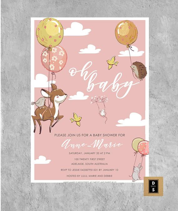 baby shower invitation invitations digital printable