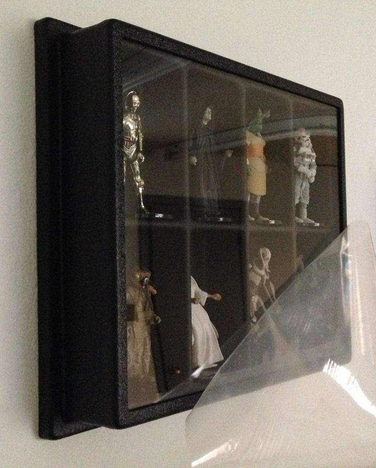 Action Figure Display Case Dust Cover Wall Mount Star Wars