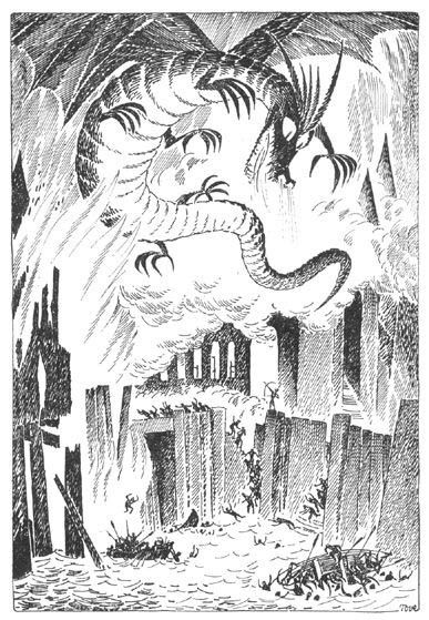 Tove Jansson: Smaug attacks the town