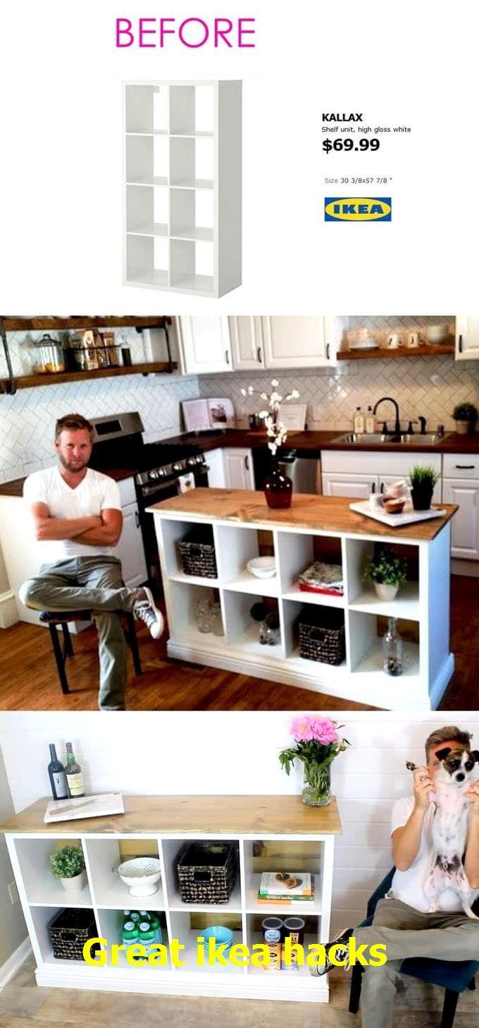 Great ikea hacks #cheapikeahacks | Ikea hack, Kitchen island